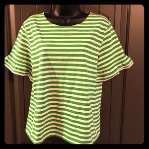 J. Crew Green Striped Shirt
